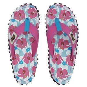 Dámské žabky Gumbies Islander Mixed Hibiscus Velikost bot (EU): 42 / Barva: růžová