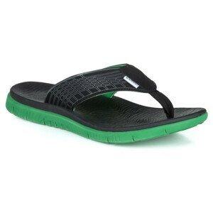 Pánské žabky Loap Callay Velikost bot (EU): 45 / Barva: černá/zelená