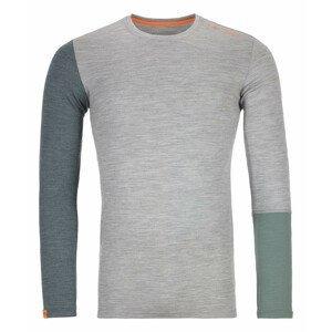 Pánské triko Ortovox 185 Rock'n'Wool Long Sleeve M Velikost: XXL / Barva: světle šedá