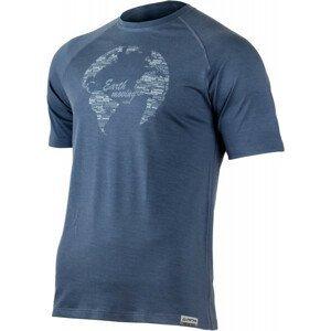 Pánské funkční triko Lasting Earth Velikost: M / Barva: modrá