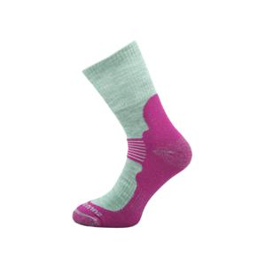 Ponožky Zulu Merino Women Velikost ponožek: 35-38 / Barva: šedá/růžová