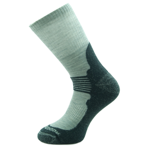 Ponožky Zulu Merino Men Velikost ponožek: 39-42 / Barva: šedá/černá