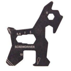 Munkees multifunkční karta ve tvaru psa Barva: šedá