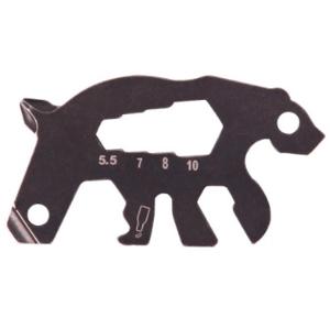 Munkees multifunkční karta ve tvaru medvěda Barva: šedá