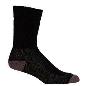 Pánské ponožky Icebreaker Mens Hike+ Medium Crew Velikost ponožek: 44,5 - 46,5 / Barva: černá
