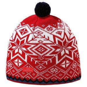 Pletená Merino čepice Kama AW41 Velikost: M / Barva: červená