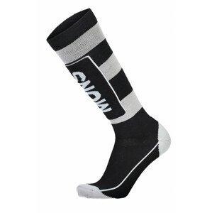Pánské podkolenky Mons Royale Mons Tech Cushion Sock Velikost ponožek: 39-41 (S) / Barva: černá/šedá