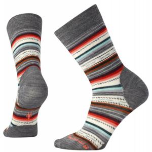Dámské ponožky Smartwool Margarita Velikost ponožek: 38-41 / Barva: šedá/oranžová
