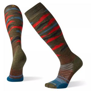 Podkolenky Smartwool Phd Ski Light Elite Pattern Velikost ponožek: 42-45 / Barva: červená/hnědá