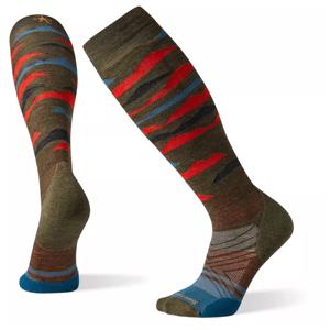 Podkolenky Smartwool Phd Ski Light Elite Pattern Velikost ponožek: 46-49 / Barva: červená/hnědá