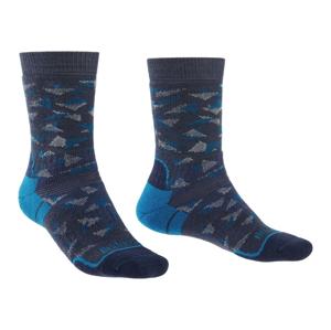 Pánské ponožky Bridgedale Hike MW MP Boot Velikost ponožek: 40-43 / Barva: modrá