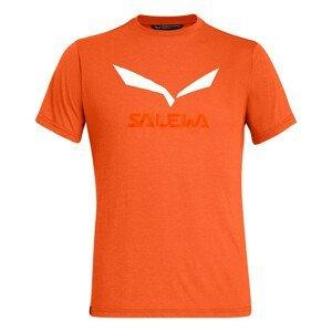 Pánské triko Salewa Solidlogo Dri-Rel M S/S Tee Velikost: M / Barva: červená/oranžová