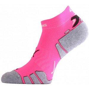 Ponožky Lasting RUN Velikost ponožek: 34-37 / Barva: růžová