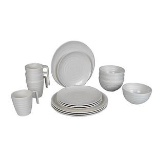 Sada nádobí Bo-Camp Tableware Stone Barva: bílá
