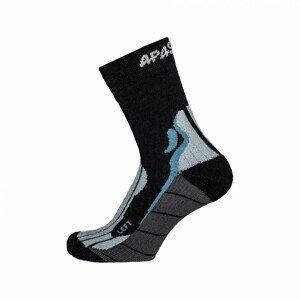 Ponožky Apasox Kibo Velikost ponožek: 39-42 / Barva: černá