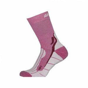 Ponožky Apasox Kibo Velikost ponožek: 39-42 / Barva: růžová