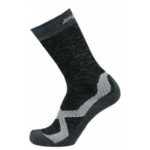 Ponožky Apasox Makalu Velikost ponožek: 43-47 / Barva: černá