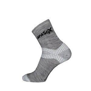 Ponožky Apasox Misti Velikost ponožek: 43-47 / Barva: šedá