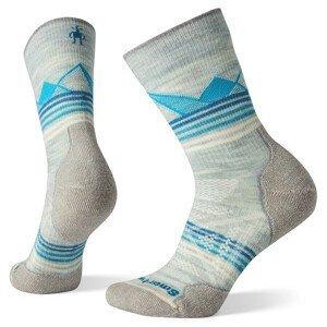 Dámské ponožky Smartwool PhD Outdoor Light Pattern Crew Velikost ponožek: 38-41 / Barva: bílá/modrá