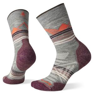 Dámské ponožky Smartwool PhD Outdoor Light Pattern Crew Velikost ponožek: 42-45 / Barva: šedá/fialová