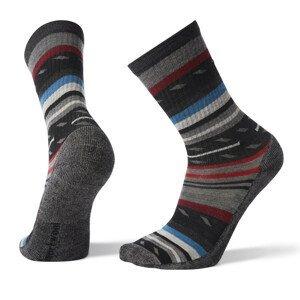 Ponožky Smartwool Hike Light Margarita Crew Velikost ponožek: 46-49 / Barva: černá/šedá