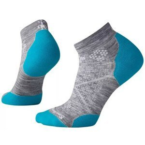 Dámské ponožky Smartwool PhD Run Light Elite Low Cut Velikost ponožek: 34-37 / Barva: šedá/modrá