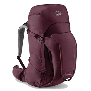 Dámský batoh Lowe Alpine Altus ND 50:55 Velikost zad batohu: S/M / Barva: tmavě fialová