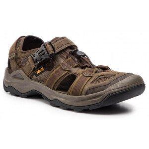 Pánské sandály Teva Omnium 2 Leather Velikost bot (EU): 44 / Barva: hnědá