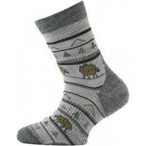 Dětské ponožky Lasting ponožky TJL Velikost ponožek: 34-37 (S)/ Barva: šedá