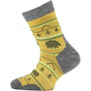 Dětské ponožky Lasting ponožky TJL Velikost ponožek: 34-37 (S)/ Barva: fialová