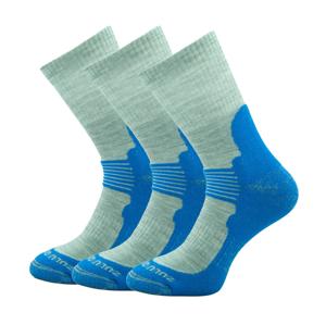 Ponožky Zulu Merino Men 3-pack Velikost ponožek: 43-47 / Barva: modrá