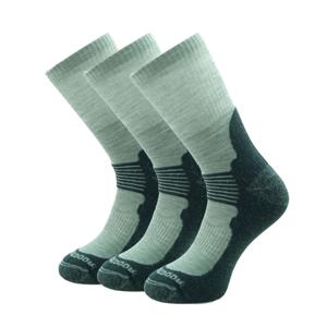 Ponožky Zulu Merino Men 3-pack Velikost ponožek: 43-47 / Barva: černá/šedá