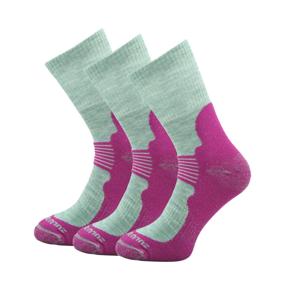 Ponožky Zulu Merino Women 3-pack Velikost ponožek: 35-38 / Barva: růžová
