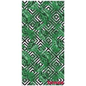Rychleschnoucí osuška Towee Monstera 80x160 cm Barva: bílá/zelená