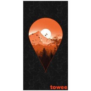 Rychleschnoucí osuška Towee Next Destination 80x160 cm Barva: černá/oranžová