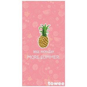 Rychleschnoucí osuška Towee Ananas 80x160 cm Barva: růžová