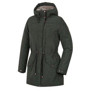 Dámská zimní bunda Hannah Esmail Velikost: S / Barva: tmavě zelená