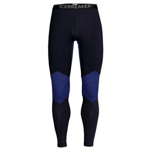 Pánské spodky Icebreaker Mens 260 Zone Leggings Velikost: XL / Barva: černá/modrá