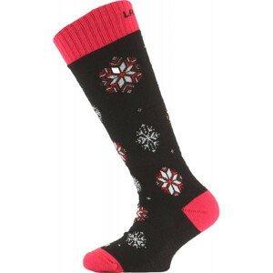 Dětské ponožky Lasting Sja Velikost ponožek: 29-33 (XS) / Barva: černá/bílá