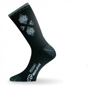 Ponožky Lasting SCK Velikost ponožek: 38-41 / Barva: černá/šedá