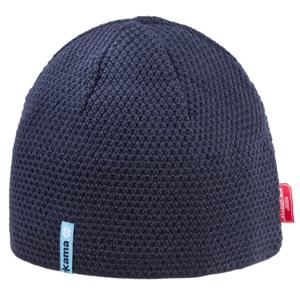 Pletená merino čepice Kama AW62 Barva: modrá