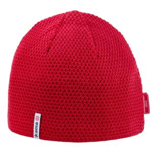 Pletená merino čepice Kama AW62 Barva: červená