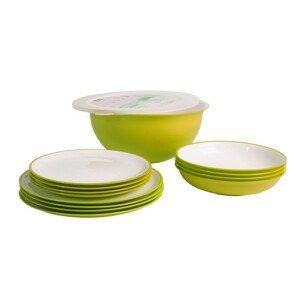 Set nádobí Omada Sanaliving Pic-Nic Set 14 ks Barva: světle zelená