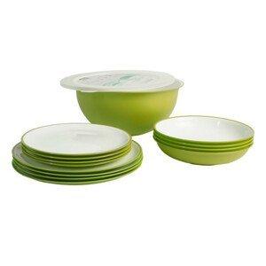 Set nádobí Omada Sanaliving Pic-Nic Set 14 ks Barva: zelená