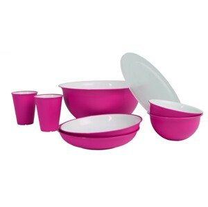 Set nádobí Omada Sanaliving Pic-Nic Set 8 ks Barva: růžová
