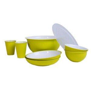 Set nádobí Omada Sanaliving Pic-Nic Set 8 ks Barva: světle zelená