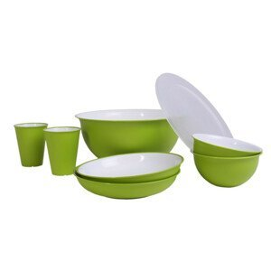 Set nádobí Omada Sanaliving Pic-Nic Set 8 ks Barva: zelená