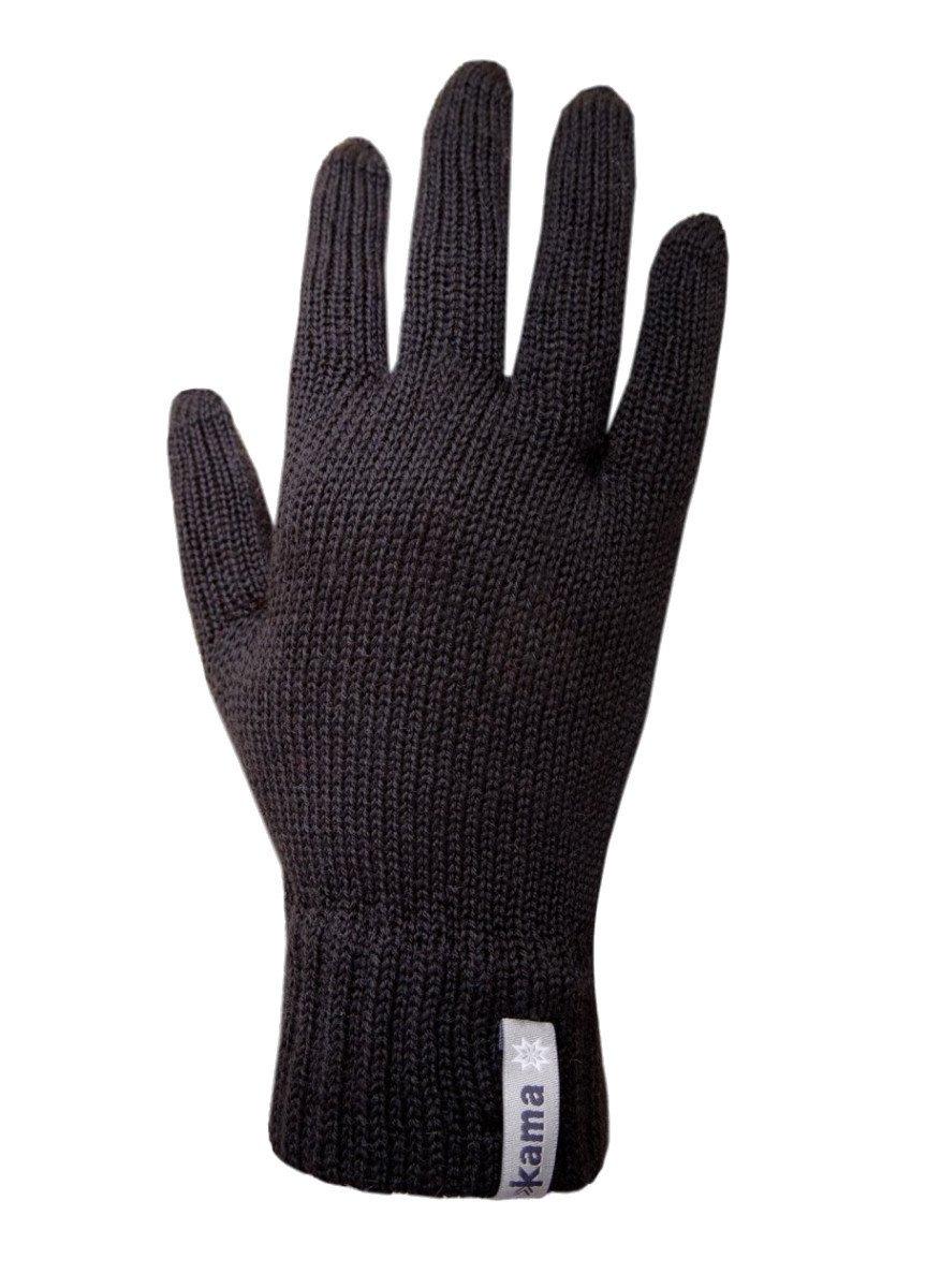 Pletené Merino rukavice Kama R101 Velikost rukavic: S / Barva: černá