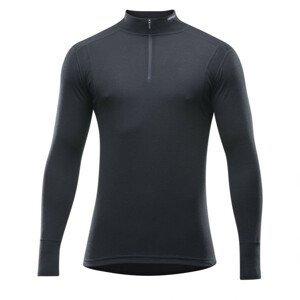 Pánské triko Devold Hiking Half Zip Neck Velikost: M / Barva: černá