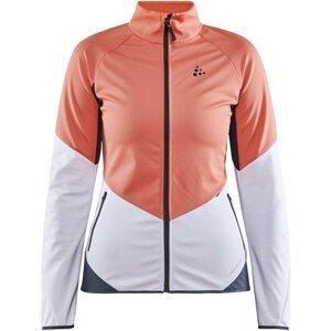 Dámská bunda Craft Glide Velikost: L / Barva: bílá/oranžová